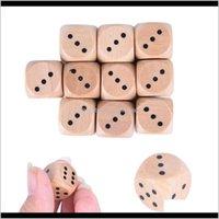 16 мм древесины разноцветные круглые уголки лесистые кубики играют семейные игры вечеринка игрушка декоративный подарок 6-х сторонний SC124 efjfn gambing wchuq