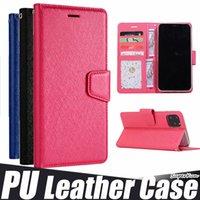 Portefeuille de luxe Flip PU Cas de cuir pour iPhone 12 11 Pro Max 6 7 8 Samsung Note 20 S20 Plus