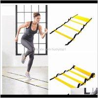 5 Sección 10 metros Agilidad Fútbol Cuerda Salto de saltos Pace Soccer LJJZ496 Qefzi Fitness Nlftg