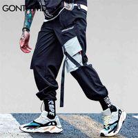 Gonthwid Pockets Cargo Harem Pantalons Mens Casual Joggers Baggy Pantalon tactique Harajuku Streetwear Hip Hop Fashion Swag 210715