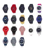 Sport da uomo Quartz 2100 orologio DZ7333 DZ7333 LED Display digitale impermeabile e antiurto Mondo di alta qualità 18 colori