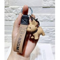 Bag Parts & Accessories 2021 Cartoon Method Fighting Dog Keychains Cute Doll Key Chain Creative Custom Couple Ins Pendant Car Leather Ring
