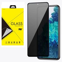 Anti-spy Privacy Full Cover Tempered Glass Protector Silk Printed For Samsung Galaxy A02 A12 A22 4G 5G S21 FE A71S F52 100pcs lot In retail package