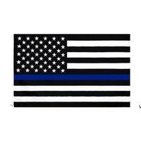 3x5fts 90cmx150cm правоохранительные органы сотрудники правоохранительных органов США американская полиция тонкая синяя линия флаг Bleueline USA полицейские флаги HWE6962