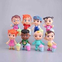 Anime Cocomelon Figura Brinquedo PVC Modelo Dolls Cocomelon Brinquedos Crianças Presente Bebê 12 Pçs / Definir presente de Natal