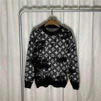 2021 남성용 니트 풀오버 디자이너 스웨터 남성 O 넥 캐주얼 뜨개질 점퍼 스웨터 망 긴 풀오버 유명한 여성 스웨터