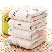 Towels 100% Cotton Gauze Newborn Burp Cloths Muslin Baby Face Towels Baby Bath Wrap Infant Washcloth 17 Designs 10pcs DW4154 146 Z2
