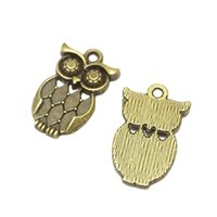 50Pcs Lot Zinc Alloy Antique Bronze Plated Owl Charms Pendants For Jewelry Making DIY Craft 22*14MM