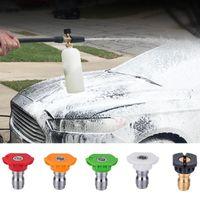 Arma de água Snow espuma lance ajustável limpador de pressão lavadora carro pulverizador 1 pc com 5 pcs 1/4 polegada 2.5 gpm spray bocal pontas