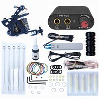 Complete Tattoo Kit For Beginner Power Supply Needles Guns Set Small Configuration Tattoos Machine Ink Body Art Tools DHL