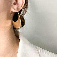 Trendy einfache geometrische Metall Pailletten Bump-Anschlussart Typ C-Ohrring für Frauen Mädchen Party Schmuck Geschenk Baumeln Kronleuchter