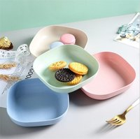 Dishes & Plates Dinner Plate Fruit Snack Dish Nut Tray Dessert Candy Storage Home Kitchen Plastic Tableware With Toothpick Box GWD10455