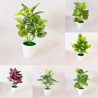 Plástico simulado planta vaso salgado artificial bonsai desktop ornament falso verde para decoração home decoração flores decorativas wreat