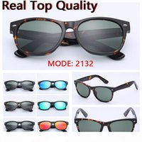 sunglasses new 2132 top quality UV400 real glass lenses sun glasses des lunettes de soleil free leather case, retail package everyth!