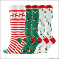 Athletic Outdoor As Sports & Outdoorssports Socks Mens Compression Men Knee High Long Christmas Cap Tree Deer Striped Printed Sport Cycling