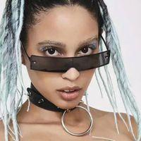 Y2K Style Small Rectangle Alloy Frame Unisex Sun Glass Little Girl Clear Sunglass