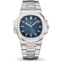 2021 Wodoodporny Zegarek Mężczyźni Mechaniczne Zegarki Automatyczne 5711 Cal.324 Ruch Srebrny Pasek Niemowny Stal Nierdzewna Męskie 40mm Przezroczyste Wristwatches