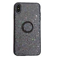 Чехол Bling Back Design Phone Case Black Cover с держателем кольца для iPhone 11 Pro Max X XS XR 8 7 6 Plus