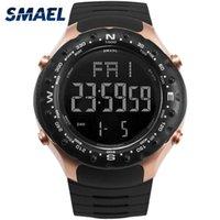 Mens Militar Relógios 50m Impermeável Relogio Smael Relógios Pretos Homens Big Homens Esporte 1342 LED Digital Wrsit Wristwatches