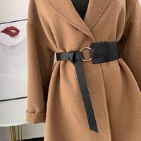 Corsé moda faux cuero cinturón de cuero delgado arco negro ocio cinturones damas vestido de novia abrigo decorativo cintura mujer