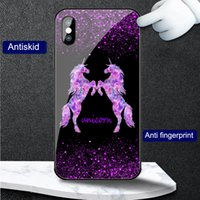 Cases Shimmering Flash powder unicorn horse women Phone case cover for Huawei P10 P20 P30 P40 P50 Pro Mate 20 30 40 Nova 3 4 5 6 7 8 tempered glass shockproof Protector