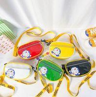مصمم الاطفال الكرتون محفظة أزياء الفتيان الفتيات براءات الاختراع حقائب اختبار الطفل إلكتروني حزام رسول حقيبة A6762