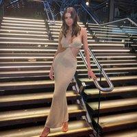 2021 fashions casuals long knee length women's dress fashion casual slim sexy women dress's