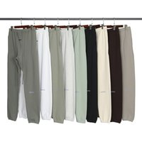 Otoño Invierno EE.UU. 3M Pantalones reflectantes Pantalones Casual Matcha Green Coffee Brown Sweetstring Sweachs Men Mujer Jogger