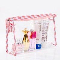 Borsa cosmetica in PVC trasparente multi-funzionale regalo tridimensionale sacchetto cosmetico con cerniera impermeabile
