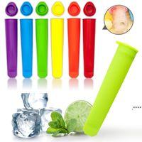 Silikon Dondurma Araçları Çocuklar için PICE POP Kalıpları, Kullanımlık Buz Popping Kalıp DIY FREEZE Popsicle Yapmak FWB6756