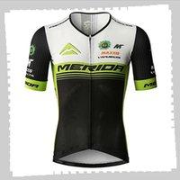사이클링 저지 프로 팀 Merida Mens 여름 빠른 건조한 스포츠 유니폼 산악 자전거 셔츠 도로 자전거 탑스 레이싱 의류 야외 운동복 Y21041251