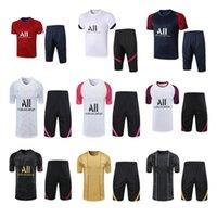 2021 Poloshirt Fussball Sets Überleben Paris Mbappe Fußball Jacken Air Jordam Traininganzug