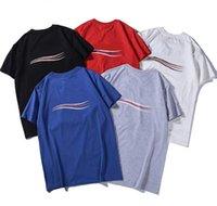 Модные мужские дизайнерские футболки с буквами Летние футболки для мужчин Женские пара повседневные топы Teers с коротким рукавом Размер пуловер S-XXL