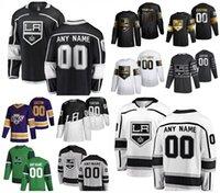 로스 앤젤레스 킹스 32 Jonathan Quick Hockey Jerseys 11 Anze Kopitar 99 Wayne Gretzky 23 Dustin Brown 19 Alex Iafallo 6 Olli Maatta 사용자 정의 스티치 남성 여성 청소년 저지