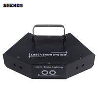 トップセールShehds RGB LEDレーザー照明6眼赤緑青スキャンフルカラーDMXコントロール、DJディスコパーティーKTVとダンスフロアの速い配信