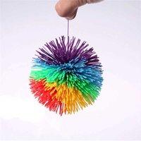 Juguetes antiestrés 8cm Rainbow Fidget Sensory Baby Gracioso Pelota de la bola Estrés alivio Niños Autismo Necesidades especiales
