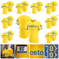 Boston 2021 City Connect Jersey Red Xander Bogaerts Hernandez Rafael Eduardo Rodriguez Verdugo Benintendi Yastrzemski Martinez Sox Williams