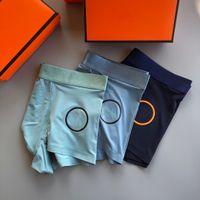 Erkekler Iç Çamaşırı Tasarımcılar Külot Moda Boksörler Nefes Pamuk Erkek Bel Kustu Adam Iç Çamaşırı 3 adet / kutu Büyük Boy L-XXXL