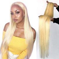 Человеческие волосы для волос Hoho 613 Blonde прямые пакеты 1/3/4 шт. Бразильские ткани 28 30 38 40 дюймов Длинные реми