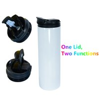 Sublimation 20oz 30 oz Straight Skinny Tumbler with Two Function Lids Stainless Steel Double Wall Insulated Blanks Sippy Water Bottle Silicone Straw Coffee Cup Mugs