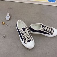 Women Designer Shoes Chiffon Floral Technical Trainers Embroidery Printed Alphabet Canvas Sneakers Mesh Breathable Oblique Shoe