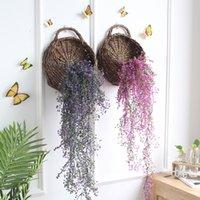 Decorative Flowers & Wreaths 80cm Artificial Fake Silk Flower Vine Garden Decor Hanging Garland Plant Plants Home Wedding Christmas