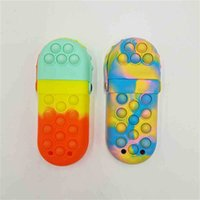 Sensory Fidget Pencil Case Boxes Push Bubble Stationery Bags Kids Students Poo-its Board Game Puzzle Purses Portable Gargle Cup Christmas Gift Anti Anxiety G927SAL