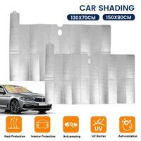 Vehicle Double-layer Windshield Car Foldable Sun Shade Auto Front Window Visor Anti-UV Reflective Curtain Keep Interior Cool