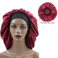 Yeni Stil Bayanlar Ipek Güzellik Saç Bandı Duş Geniş Ağız Kaz Duş Kapağı Afrika Stil Katı Renk Gevşek Rahat Gece Şapka