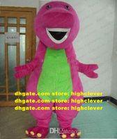 Barney Dinosaurier Maskottchen-Kostüm Erwachsener Zeichentrickfilm-Figur-Outfit-Anzug vorherrschender Treffpunkt Willkommen CX2016 Kostenloses Schiff