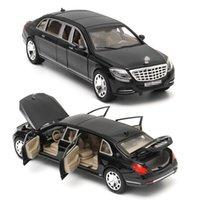 124 لمرسيدس مايباخ S600 ليموزين دييكاست نموذج سيارة لعبة سيارة للأطفال هدية عيد لعبة جمع سيارة