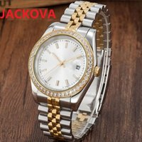 Lovers Designer Diamonds Ring Watches Women Men President Sapphire Cystal Roman Number 316L Stainless Steel Automatic Mechanical Movement Male WristWatch