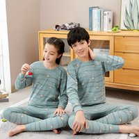 Big Boys Girls Sleepwear Kids Pajamas Children Cotton Clothing Suit Teens Pyjamas T-shirt Pants 2pcs Nightwear 9-19Y Pijama Sets