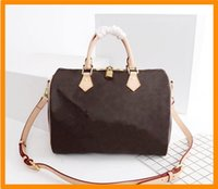 Messenger Bag Womens handbag Brown Flower PVC Leather Mini Boston Clutch Shoulder 40152 Classic white plaid Purses See the original picture and contact me